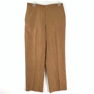 Alfred Dunner brown suede pull on pants